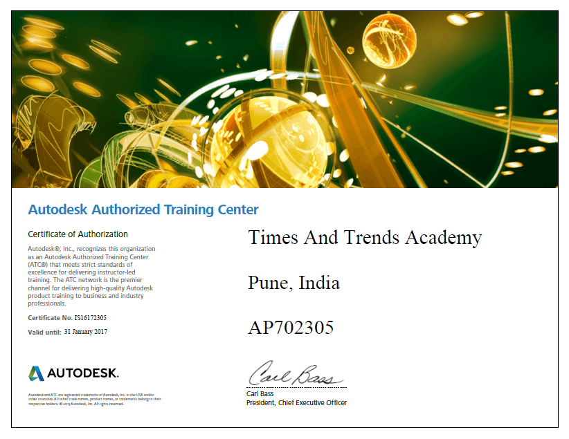 AutoDesk Authorised Training Center-tta