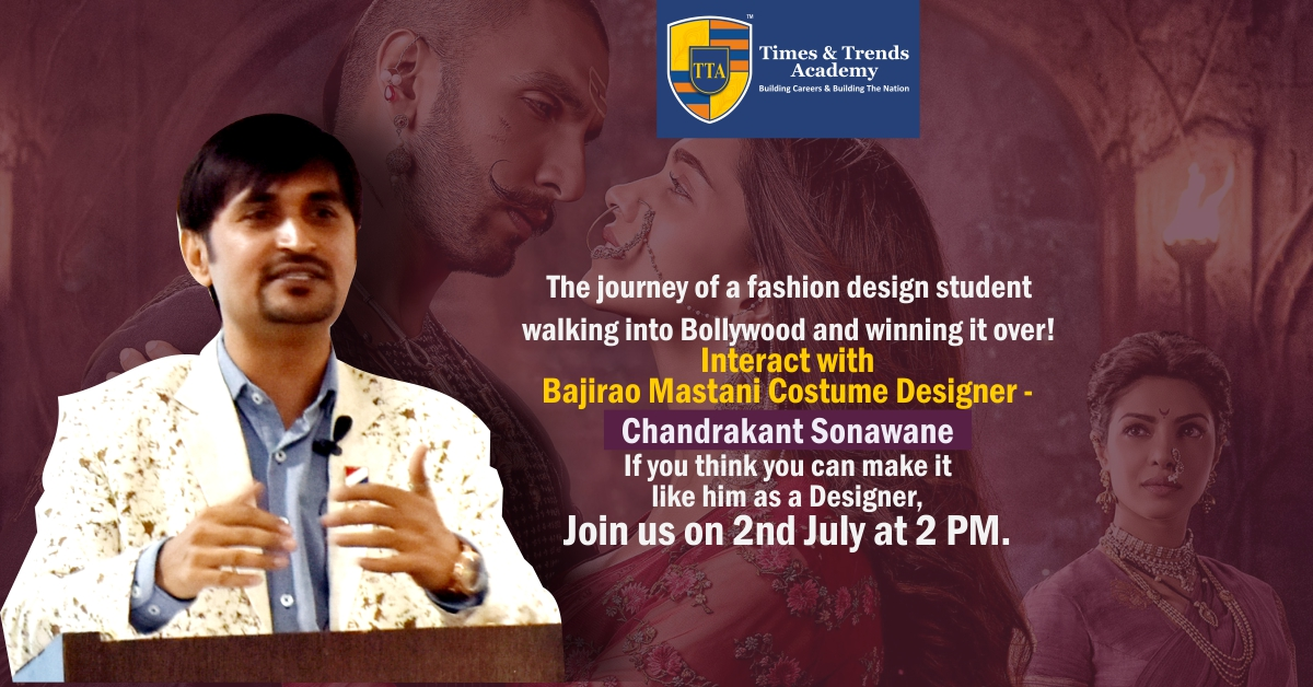 Get an opportunity to meet and interact with Bollywood Costume Designer – Chandrakant Sonawane.