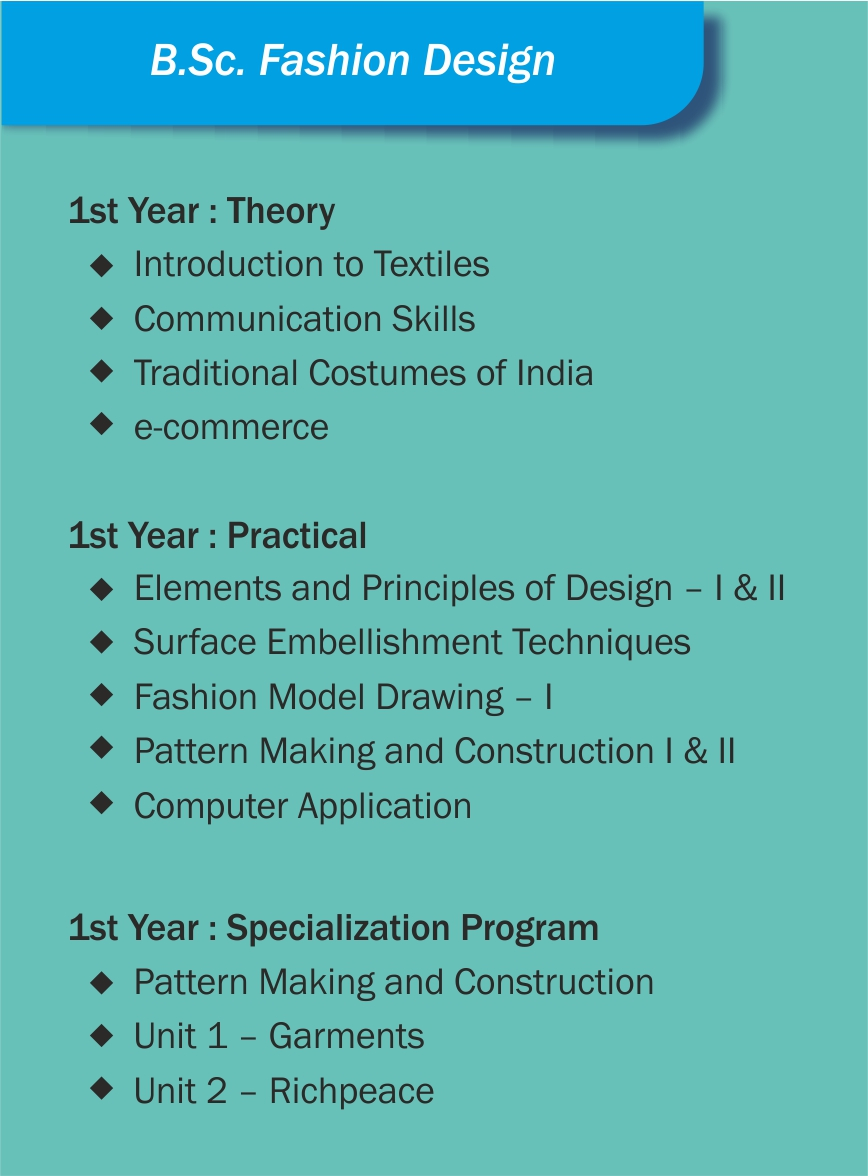Syllabus 1yr Fashion Design Times And Trends Academy Tta